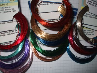 COPPER CRAFT WIRE Choice of Colour  30ft x 22 gauge